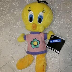 Tweety Bird Flower Plush Bean bag 1998